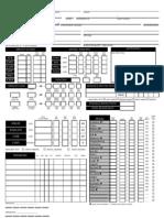 D&D Pathfinder Character Sheet
