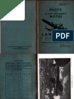 42679113 1945 Pilot s and Flight Engineer s Notes Lancaster Mark I Mark VII Mark III Mark X