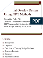Structural Overlay Design Using NDT Methods