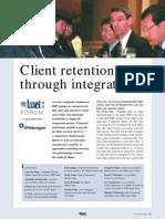 Client Retention Through Integration