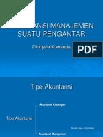Akuntansi Manajemen Suatu Pengantar