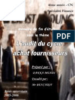 Audit Cycle Achat Fournisseur