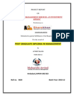 23884026 Reoprt on Portfolio Management Services by Sharekhan Stock Broking Limited