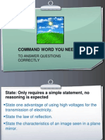 Command Word You Need to Know