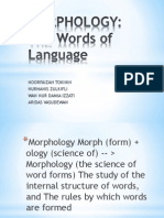 Morphology Linguistic