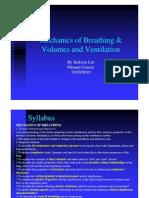 Respiratory Physiology BIII - BIV J Lee 17.3.10
