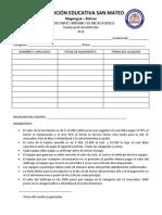 Inscripción Campeonato de Microfutbol