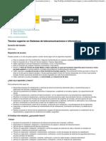 Portal Todo FP Técnico superior en Sistemas de telecomunicaciones e informáticos