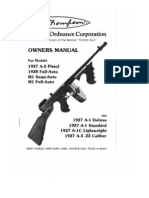 21561091 Auto Ordnance Corporation Thompson Smg Tommy Gun Owner s Manual
