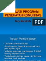 Evaluasi Program Kesehatan Komunitas