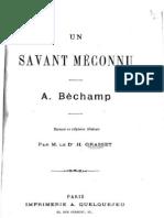 Grasset Hector - Un Savant méconnu A. Béchamp