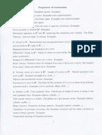 Geometry Programme of Examination
