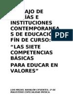 TRABAJO DE TEORÍAS E INSTITUCIONES CONTEMPORANEAS DE EDUCACIÓN FÍN DE CURSO