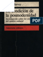 La Condicion de La Posmodernidad - David Harvey