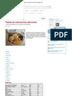 Tabela de Calorias Dos Alimentos _ Atletx