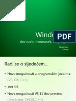 Windows 8 - Dev Tools, Framework, Languages