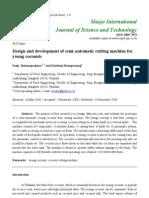 Design and Development of Semi-Automatic Cutting Machine For