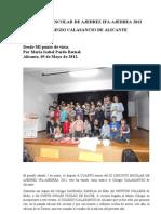 Ix Circuito Escolar de Ajedrez Ifa -Colegio Calasancio de Alicante