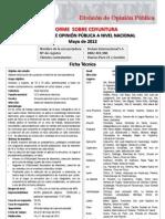 ENCUESTA DE OPINIÓN PUBLICA A NIVEL NACIONAL MAYO 2012