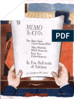 Harvard Business Review - Letter to CEOs