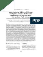 Deep-Water Turbidites as Holocene San Andres Fault