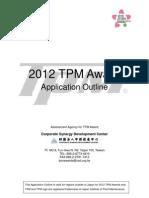 2012 TPM Award Application Outline