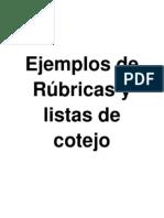 Ejemplos+de+Rubricas+y+listas+de+cotejo