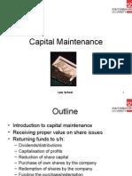 Capital Maintenance
