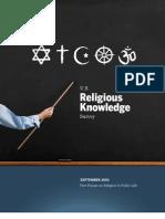 Religious Knowledge Full Report