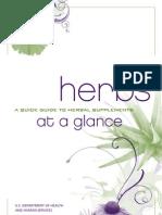 NIH Herbs at a Glance