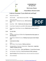 WGF Conference Programme 2012