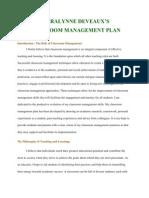 sheralynne deveaux classroom management plan