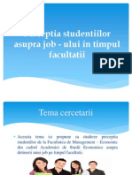 Perceptia Studentiilor Asupra Job - Ului In