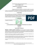 OCRET - Ley Reguladora de Areas de Reservas Territoriales Del