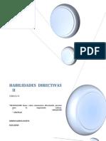HABILIDADES DIRECTIVAS II UNIDAD II NEGOCIACIÓN