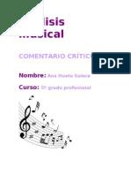 Analisis Musical Trabajo