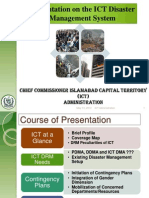 Presentation by CC-ICT 9th May, 2012 to NDMA