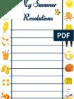 MY SUMMER RESOLUTIONS (printable)