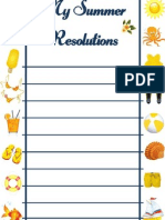 MY SUMMER RESOLUTIONS (printable)