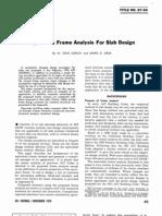 Equivalent Frame Analysis for Slab Design ~ Corley W.G., Jirsa J.O.