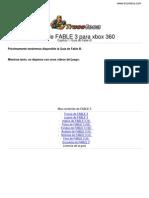 Guia Trucoteca Fable 3 Xbox 360