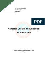 Aspectos legales de aplicación en Guatemala