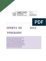 OFERTA POSGRADO 2012