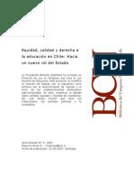 Equidad, Calidad y derecho a la Educación en Chile