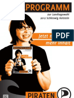 SH Piraten Wahlprogramm 2012