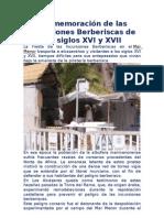 CONMEMORACIÓN DE LAS INCURSIONES BERBERISCAS (S. XVI Y XVII)
