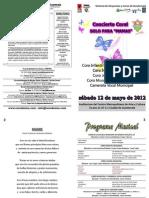 Programa Dia de la Madre 2012 Coros Municipales de Guatemala