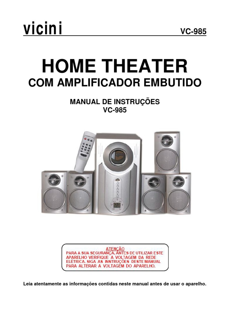 manual vc985 vicini rh scribd com manual home theater vicini manual home theater vicini vc-985