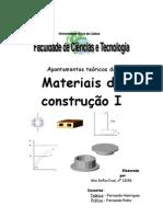 Apontamentos teóricos de Materiais de construção I (modificado)
