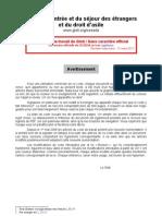 Code de l'entree et du sejour des etrangers en France